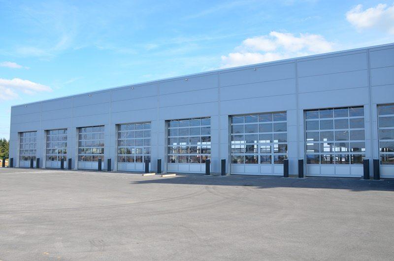 portes sectionnelles industrielles HÖRMANN ALR40 posées par Glaesener-Betz.