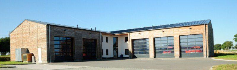 Service incendie d'Eschdorf: portes sectionnelles industrielles HÖRMANN APU 40 posées par Glaesener-Betz.