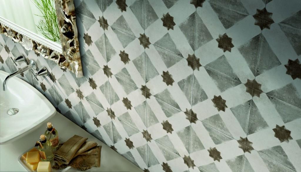 Carrelage de style vintage de la série AMBIENTE STELLA vendu chez Glaesener-Betz