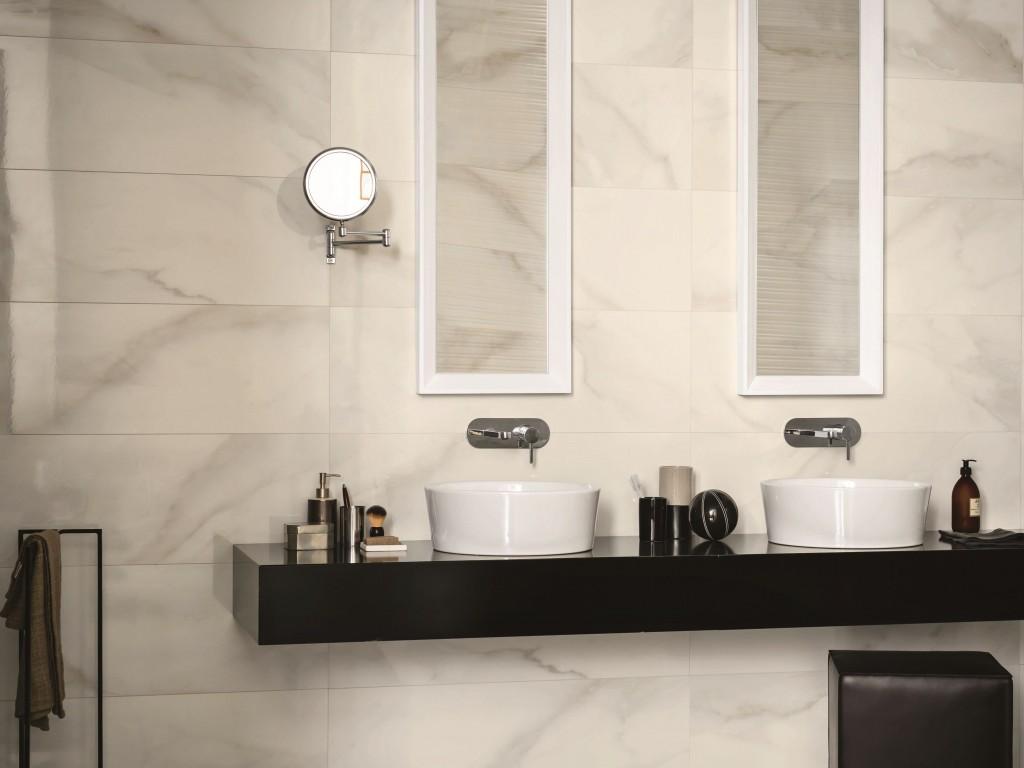Carrelage imitation marbre de la série EVOLUTIONMARBLE vendus chez Glaesener-Betz