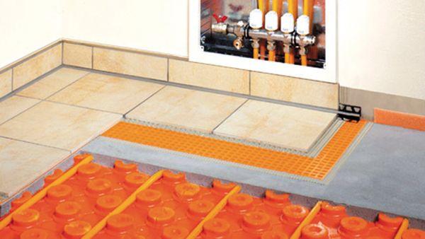 Toute la gamme Schlüter est vendue chez Glaesener-Betz, ici le système Bekotec Therm.