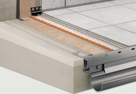 Toute la gamme de profilés SCHLUETER Systems est en vente chez Glaesener-Betz.