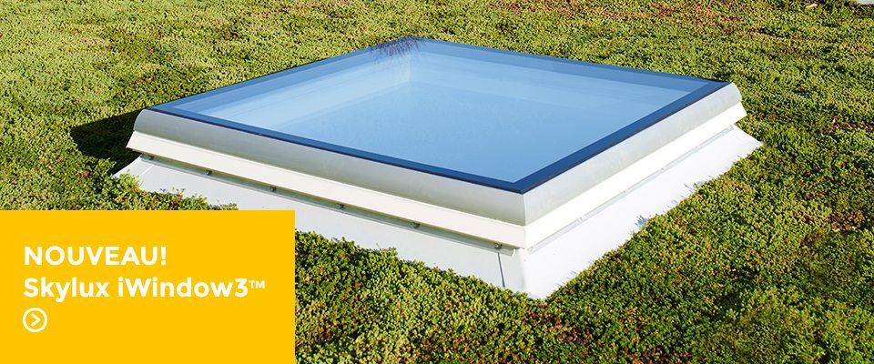 Fenêtre pour toiture plate Skylux iwindow3