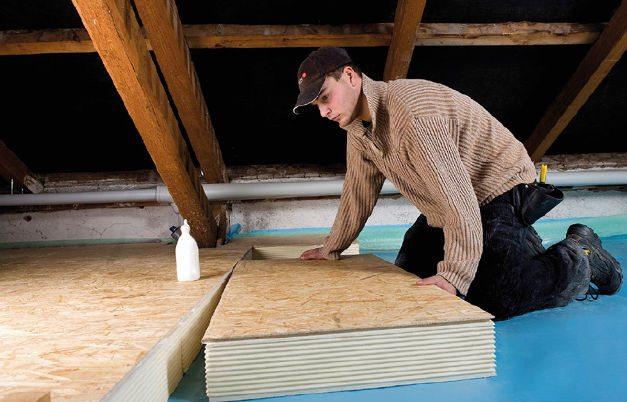 LINITHERM panneaux d'isolation du plancher des combles