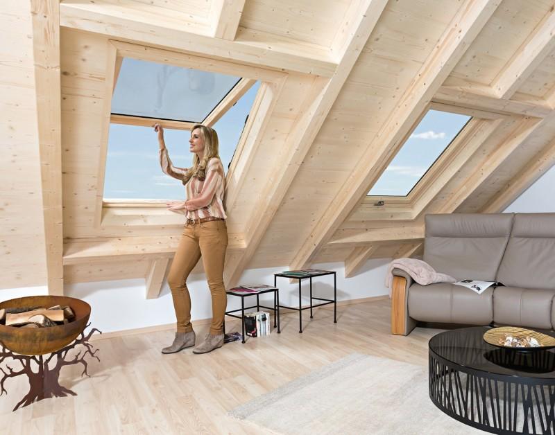 Fenêtre de toit ROTO à ouverture par projection
