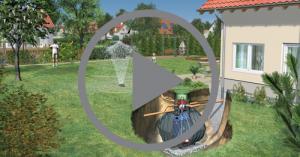 Citerne d'eau de pluie pour usage jardin de marque GRAF - vidéo d'installation