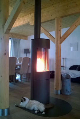 Poêle à bois de marque Igel iO3 installé par Glaesener-Betz à Torgny (BE)